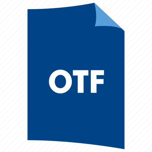 data format, document, extension, file format, filetype, otf icon
