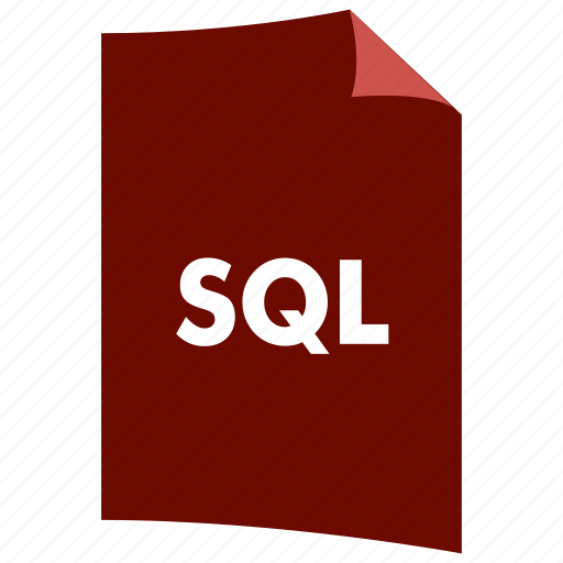 data format, document, extension, file format, filetype, query, sql icon