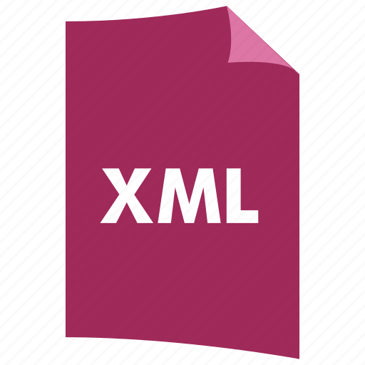 data format, extension, file format, filetype, xml icon