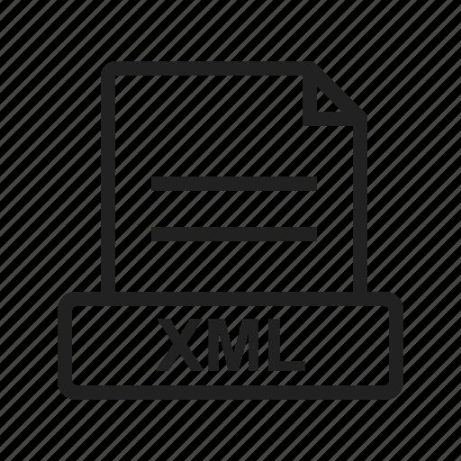 file, graphic, internet, sign, web, website, xml icon