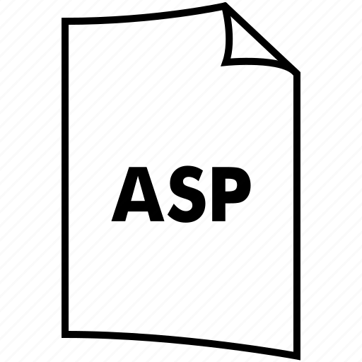 asp, extention, format, type icon