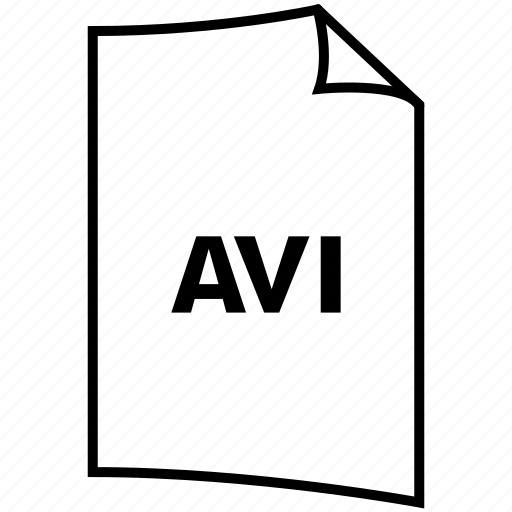 avi, extention, format, type icon