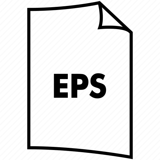 eps, extention, file, format, type icon