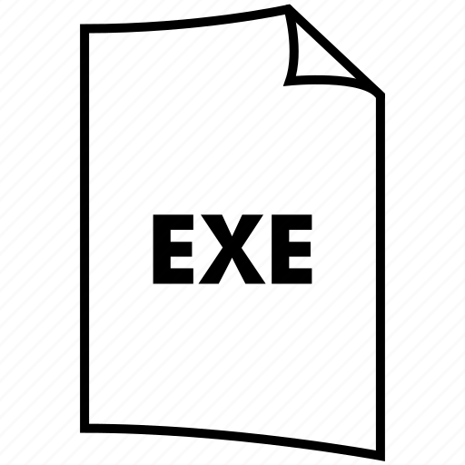 exe, extention, format, type icon