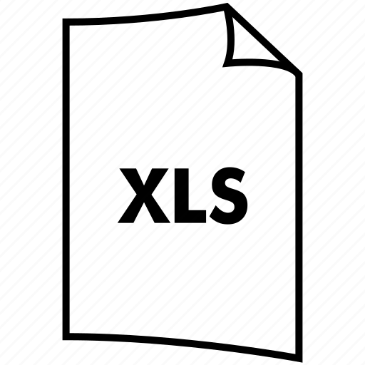 extention, format, type, xls icon