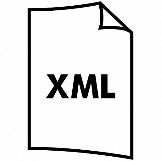 extention, format, type, xml icon