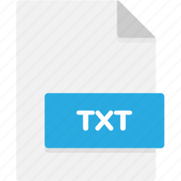 extension, file, file format, file formats, format, txt, type icon