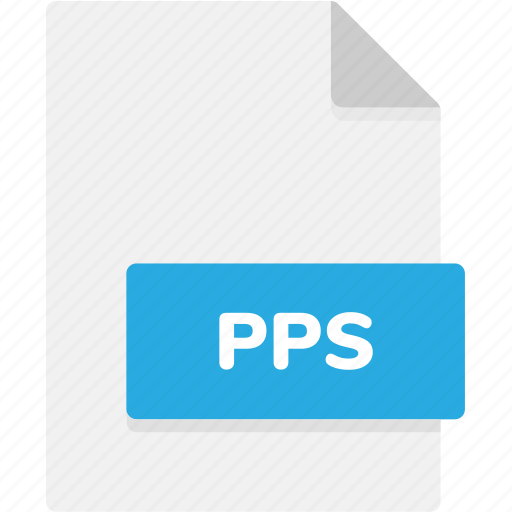 extension, file, file format, file formats, format, pps, type icon