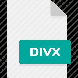 divx, extension, file, file format, file formats, format, type icon