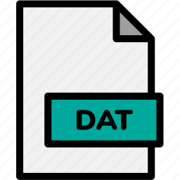 dat, extension, file, file format, file formats, format, type icon