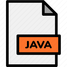 extension, file, file format, file formats, format, java, type icon