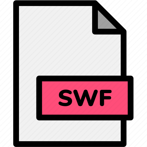 extension, file, file format, file formats, format, swf, type icon