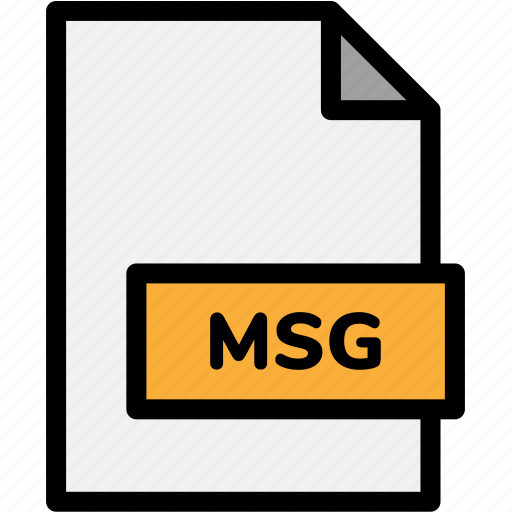 extension, file, file format, file formats, format, msg, type icon