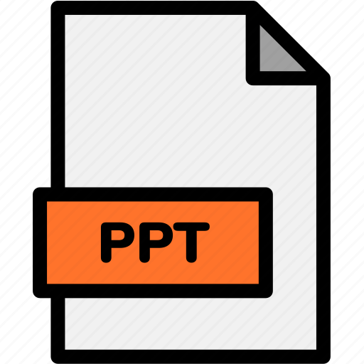 extension, file, file format, file formats, format, ppt, type icon