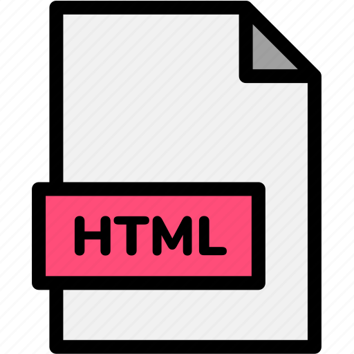 extension, file, file format, file formats, format, html, type icon