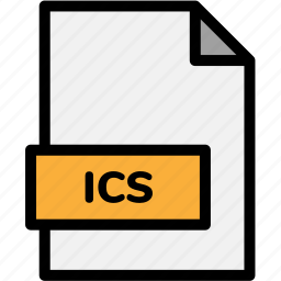 extension, file, file format, file formats, format, ics, type icon