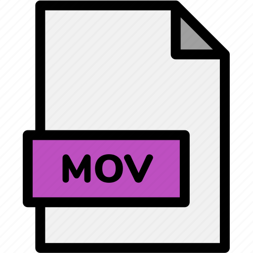 extension, file, file format, file formats, format, mov, type icon