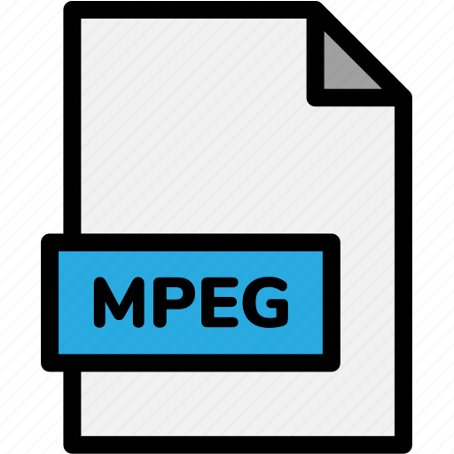 extension, file, file format, file formats, format, mpeg, type icon
