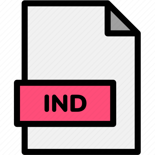 extension, file, file format, file formats, format, ind, type icon