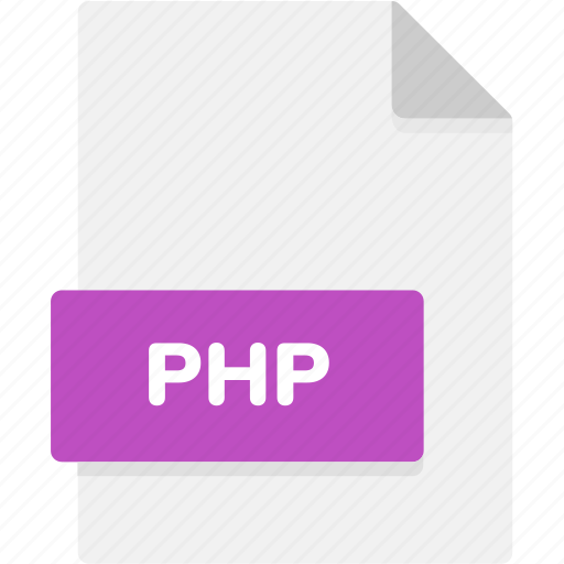 extension, file, file format, file formats, format, php, type icon