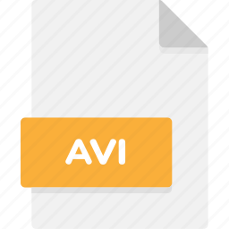 avi, extension, file, file format, file formats, format, type icon