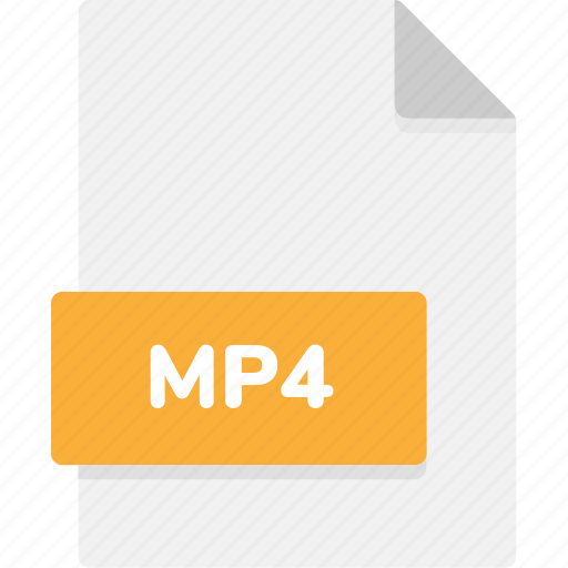 extension, file, file format, file formats, format, mp4, type icon
