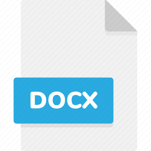 docx, extension, file, file format, file formats, format, type icon