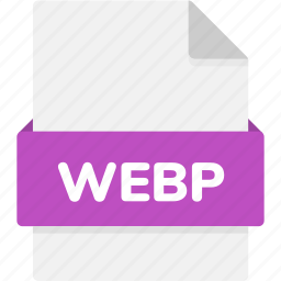 extension, file, file format, file formats, format, type, webp icon