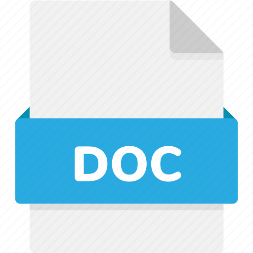 doc, extension, file, file format, file formats, format, type icon