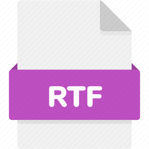 extension, file, file format, file formats, format, rtf, type icon
