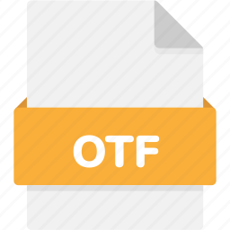 extension, file, file format, file formats, format, otf, type icon