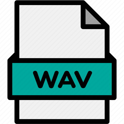 extension, file, file format, file formats, format, type, wav icon
