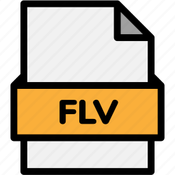 extension, file, file format, file formats, flv, format, type icon