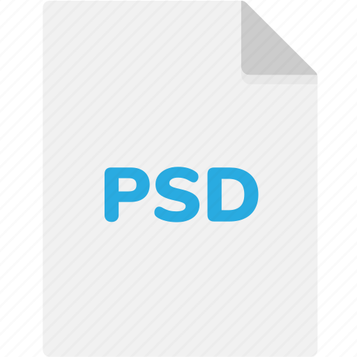 extension, file, file format, file formats, format, psd, type icon