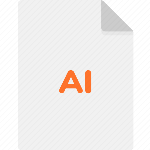 ai, extension, file, file format, file formats, format, type icon
