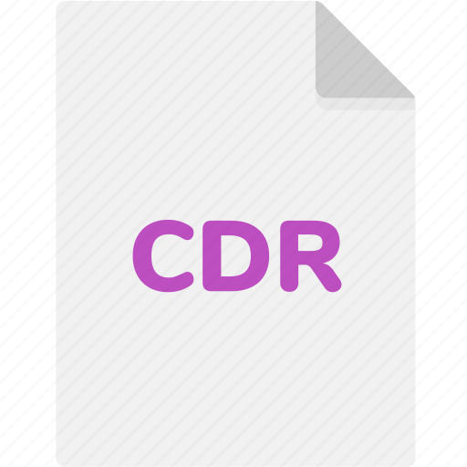 cdr, extension, file, file format, file formats, format, type icon