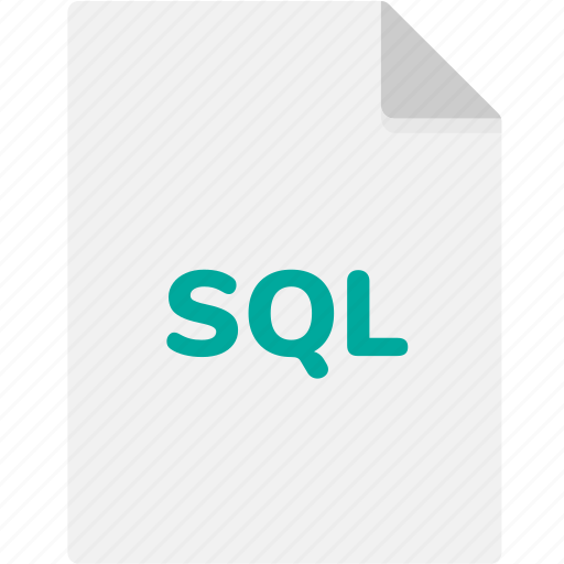 extension, file, file format, file formats, format, sql, type icon