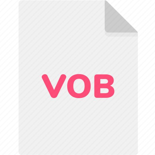 extension, file, file format, file formats, format, type, vob icon