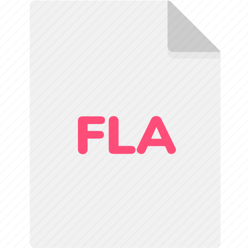 extension, file, file format, file formats, fla, format, type icon