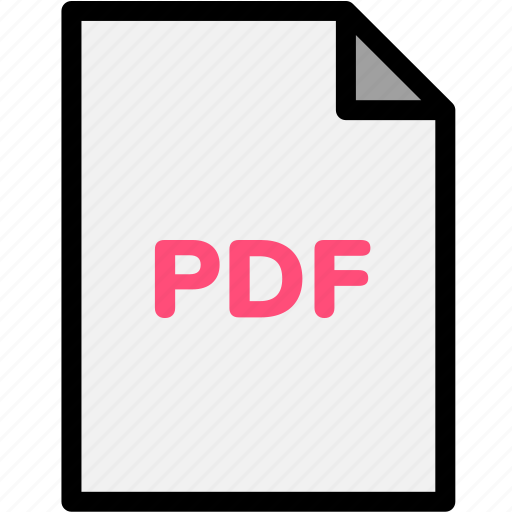 extension, file, file format, file formats, format, pdf, type icon