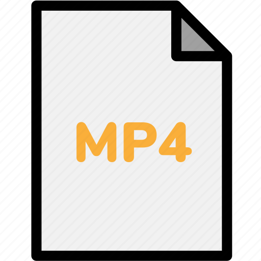 Extension, file, file format, file formats, format, mp4, type icon - Download on Iconfinder