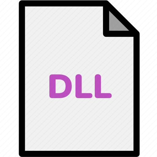 dll, extension, file, file format, file formats, format, type icon