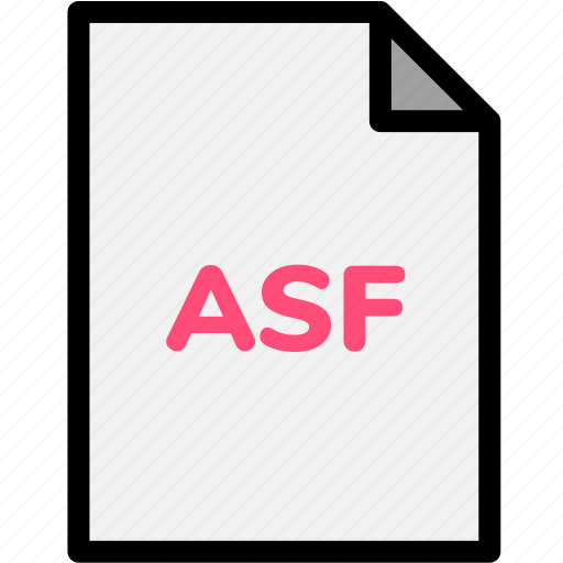 asf, extension, file, file format, file formats, format, type icon