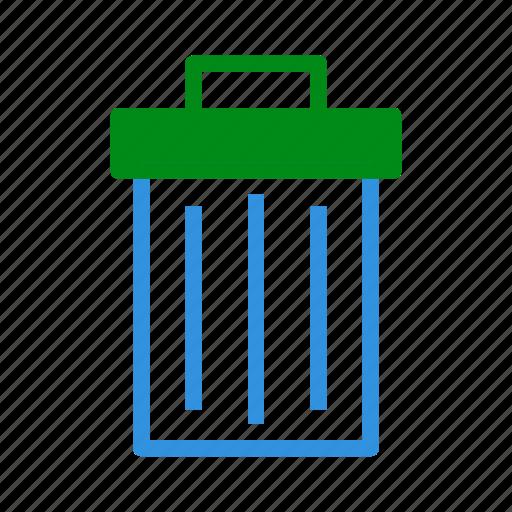 bin, delete, extension, file, format, remove, trash icon