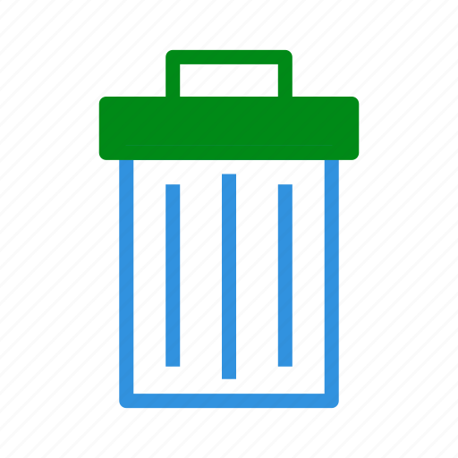 Bin, delete, extension, file, format, remove, trash icon - Download on Iconfinder