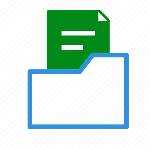 archive, data, document, file, folder, office, paper icon