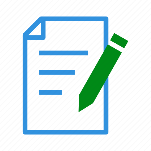 Document, draw, edit, paper, pen, pencil, write icon - Download on Iconfinder