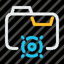 document, extension, file, folder, format, goal, target icon