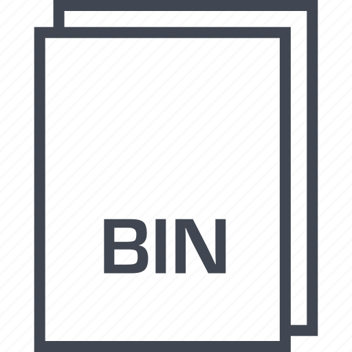 bin, document, extension, file icon