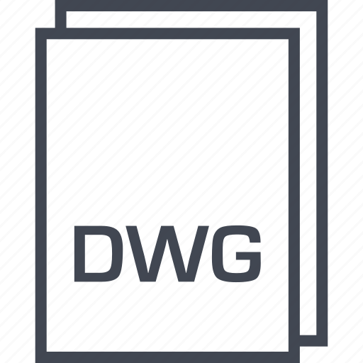 document, dwg, extension, file icon